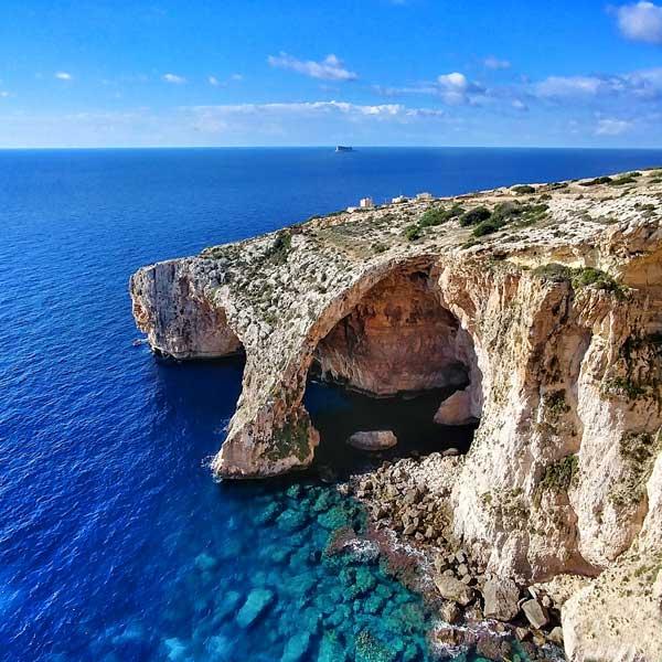 Grotte bleue à Malte pour un voyage parfait